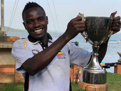 Vedastus Alphonce with the ULO Trophy